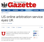 Online arbitration in UK - Law Society Gazette UK
